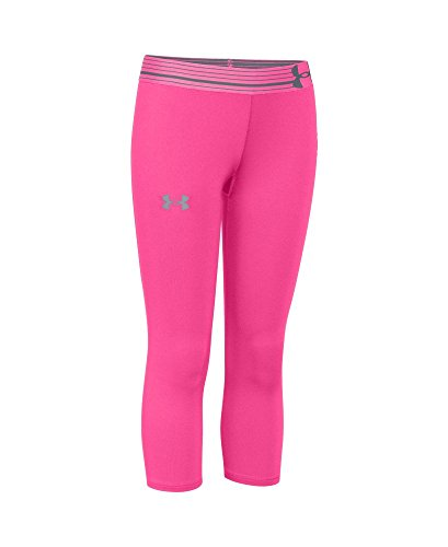 Under Armour Youth Girls' Capri, Rebel Pink/Rebel Pink/Steel, Medium (Under Armour Capri Pants compare prices)