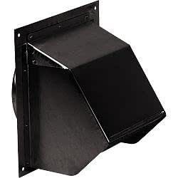 "Broan 843BL Wall Cap Black for 6"" round duct"