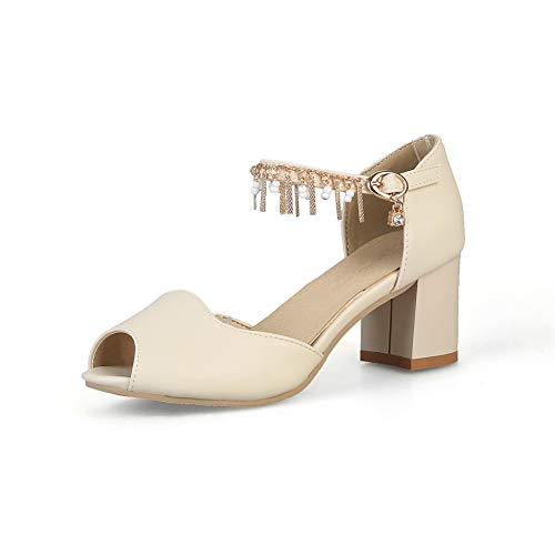 1TO9 Beige Beige 5 Femme Ouvert MJS03594 Bout Inconnu 36 1qfwP