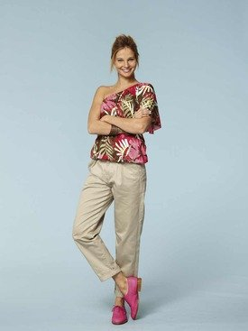 MISSES OR JUNIOR BLOUSE WITH VARIATIONS  OFF ONE SHOULDER SIZE 8101214161820 BURDA YOUNG PATTERN 7549 RATED VERY EASY