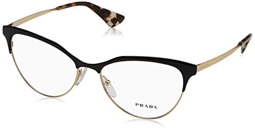 Prada CINEMA PR55SV Eyeglass Frames QE31O1-54 - Black/pale Gold - Prada Eyewear Cinema