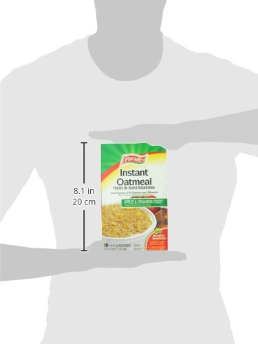 Amazon.com: Parade Instant Oatmeal, Apple and Cinnamon, 1.23 0z, 10 Packets:
