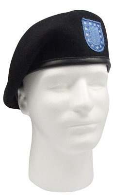 Rothco Inspection Ready Official Flash Beret, Black, Size 7.5