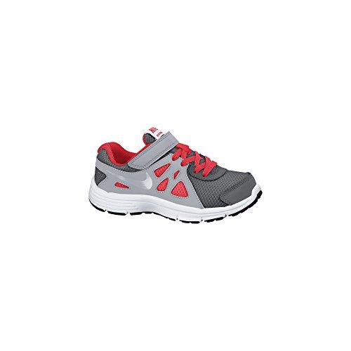 Boy's Nike Revolution 2 Running Shoe (PS) Dark Grey/White/Metallic Silver Size 2.5 M US