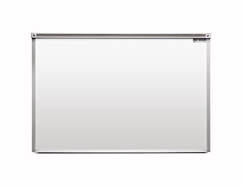 Norwood Commercial Furniture Heavy-Duty Porcelain Steel Magnetic Dry Erase Board/Whiteboard w/Aluminum Frame & Maprail 4' x 5'