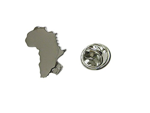 Africa Map Shape Lapel Pin
