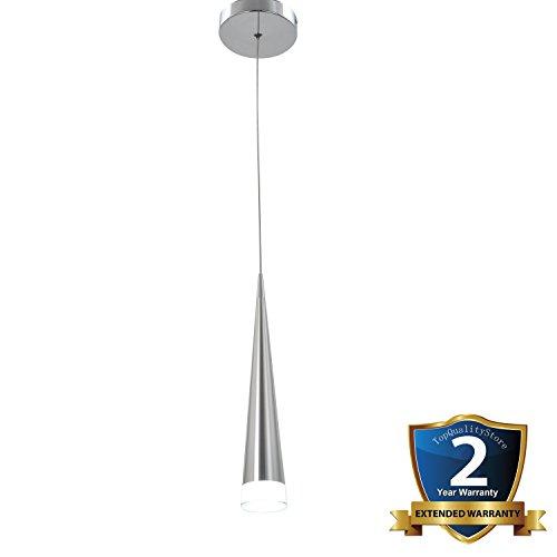 Ceiling Pendant Light 5W LED Bulb 1-Light Water Drop-Shaped Chrome Finish Embedded Droplight Modern White Acrylic Lamp - 1 Light Drop Pendant