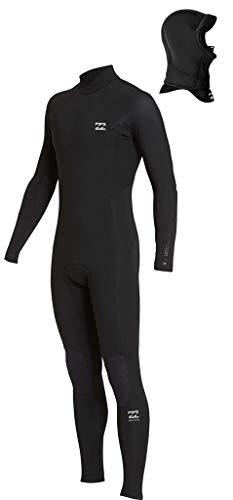 (Billabong 5/4mm Men's Absolute Hooded Fullsuit - Black, L )