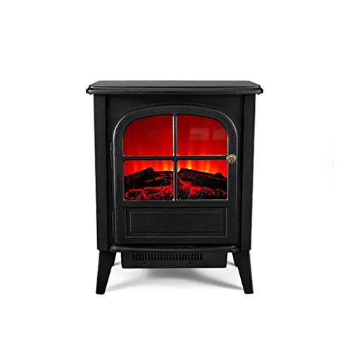 Cheap Fireplace Electric Heater Household Energy-Saving Power Heater Small Office Electric Heater Indoor Grill Fire (Color : Black) Black Friday & Cyber Monday 2019