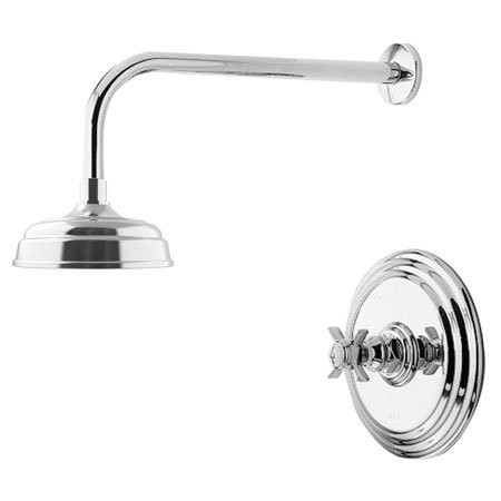 Chrome Bali Polished Faucet - Newport Brass 3-1004BP Fairfield Single Handle Shower Trim Only with Rainfall, Polished Chrome