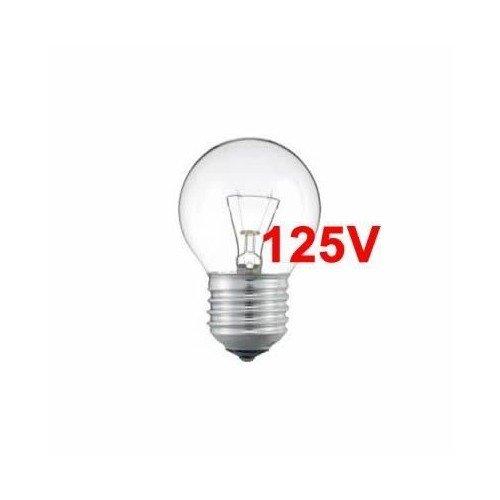 Bombilla Incandescente Esferica Clara 125v 40w e27: Amazon.es: Iluminación