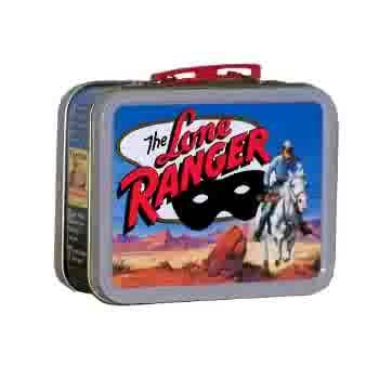 THE LONE RANGER and TONTO WESTERN HOLLYWOOD CINEMA FILM MOVIE STAR COMMEMORATIVE MINI LUNCH BOX COLLECTOR TIN, Set of 2 Lunchboxes! A Cheerios, General Mills and Golden Books Trademarked 2001 Historic Era Gift Collectable Cowboy Movie Buff Miniature Lunchbox ()