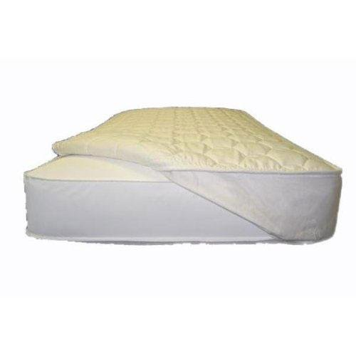 Naturepedic Organic Non-Waterproof Quilted Topper w/Straps - Queen - 60''x 80''