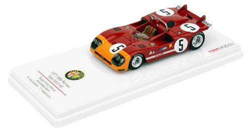 1/43 1971 アルファロメオ Tipo 33/3 Targa Florio Winner Autodelta SpA SHELL #5(レッド×オレンジ) TSM124306