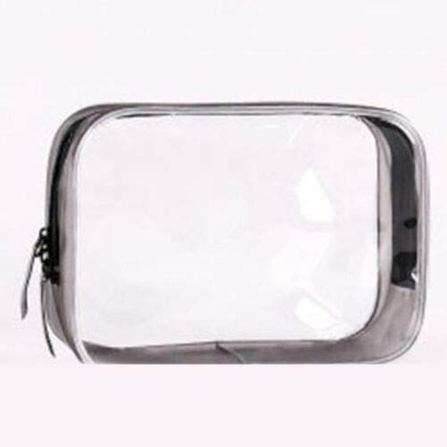 (Bag Transparent Cosmetic Makeup Travel Pouch PVC Toiletry Clear Case Waterproof (Size - XL))