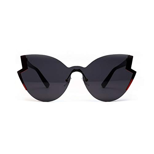 Cat Eye Neue Marke Design Spiegel Flache Rose Gold Vintage Cateye Fashion sonnenbrille Lady Brillen - (Lenses Color: Black) (Brillen Sonnenbrillen)