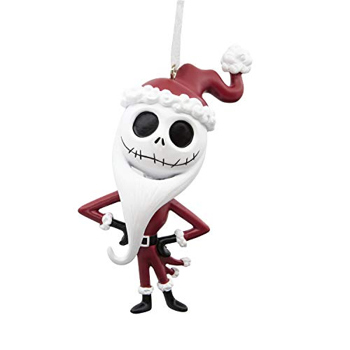 Jack Skeleton Decorations (Hallmark Christmas Ornaments, Disney The Nightmare Before Christmas Jack Skellington in Santa Outfit)