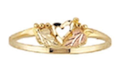 Black Hills Gold Heart Ring (7.5)