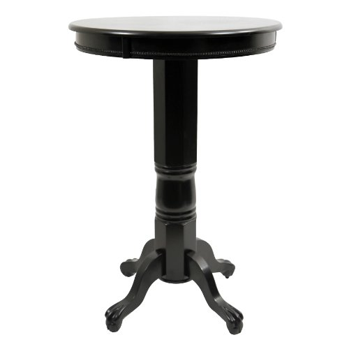 Boraam 71842 Florence Pub Table, 42-Inch, Black (Black Wood Pub Table)