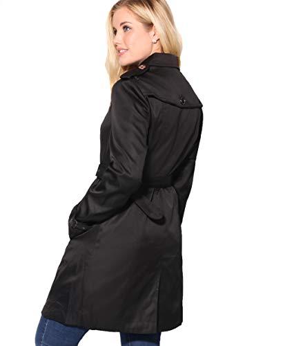 Coton 2877 Trench Femme Elégante Noir Krisp vY7Fxq