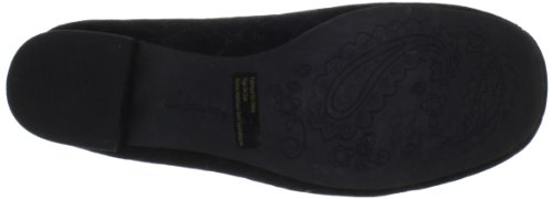 Clarks Womens Charmed Bow Pump In Pelle Scamosciata Nera
