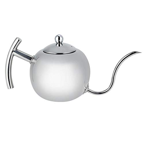Coffee Kettle Stainless Steel Large Capacity Heat-Resistant Tea Kettle Pot Coffee Pouring Drip Kettle with Gooseneck for Home Kitchen (1000ML)