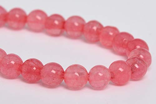 OutletBestSelling Beadwork Art Crafts 4MM Natural Pink Jade Gemstone Beads Grade AA Round Loose Beads 7.5