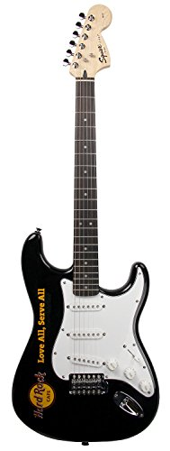 fender squier affinity stratocaster hard rock cafe electric guitar black buy online in uae. Black Bedroom Furniture Sets. Home Design Ideas