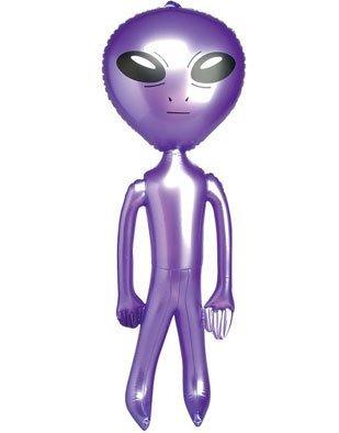 Rhode Island Novelty 5' Purple Inflatable Martian Alien Prop Toy -