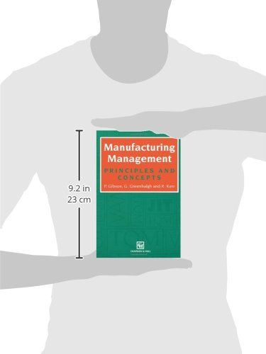 Manufacturing Management: Principles and Concepts