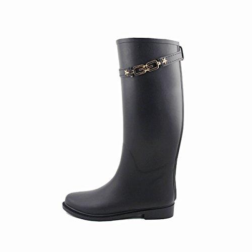 HOFFNUNG Männer Frauen Regen Stiefel Wasser Schuhe Wasserdicht Anti-Schlamm Vier Jahreszeiten Anti-Rutsch Tasteless Anti-Cracken,A-a A
