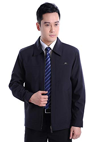 Lapel Coat Casual Size Men's Zipper Outwear 001 ZEVONDA Style Pure Large Color Jacket Jacket in 7R8xxg