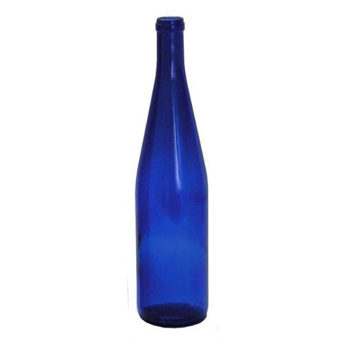 Never Pay Retail Again Inc. B0064OG226 FBA_Does Not Apply 750ml Cobalt California Hock Bottles, 12 Per Case, Blue ()