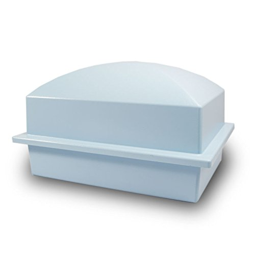 (OneWorld Memorials Cremation Urn Vault Plastic Urn Vault for Burial - Extra Large Blue Outdoor Burial Vaults)