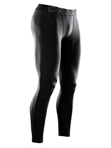 - DRSKIN Men's Compression Warm Dry Cool Sports Tights Pants Baselayer Running Leggings Yoga (Line BB01, S)