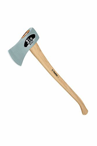 Truper 30520 3-1/2-Pound Single Bit Michigan Axe, Hickory Handle, 35-Inch