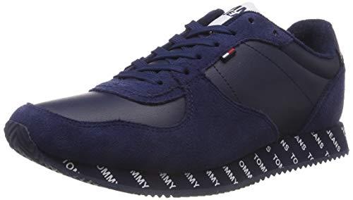 Blu Da Basse Uomo black Iris Sneaker Jeans Ginnastica 431 Scarpe Denim City Tommy Hilfiger gZvqYv