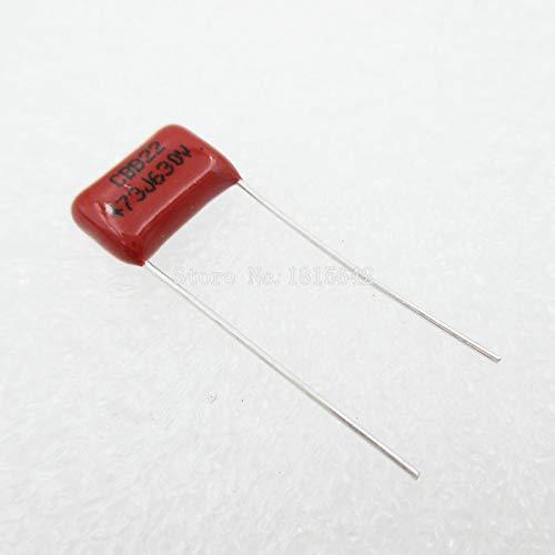 20PCS//Lot 47nF 473 630V CBB Polypropylene Film Capacitor Pitch 10mm 473 47nF 630V New
