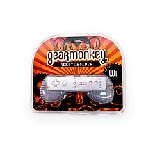 (Gear Monkey Horizontal Wiimote Silicone Holder for Nintendo Wii - Clear, Gearmonkey)
