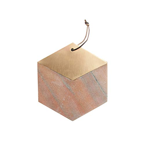 American Atelier Modern Geometric Shaped Marble Cutting Boards/Serving Trays; Use for Cheese, Charcuterie, Breads or as a Decorative Piece (11