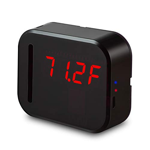 WiFi Temperature Humidity monitor, LED Digital Thermometer Hygrometer monitor, indoor/outdoor Temperature Humidity sensor with Alerts. Free iPhone/Android Apps, web browser monitor 24/7 from Anywhere by Ismart56 (Image #2)