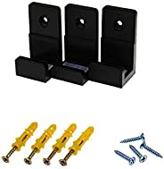 New Game Storage Set Bracket Wall Mount Console Stand Controller Holder Host Rack(1 set-For PS4 Pro,black)