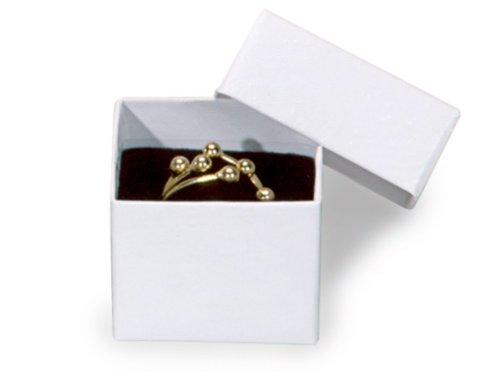 "Nashua WHITE SWIRL Ring Jewelry Boxes1-5/8x1-5/8x1-1/4"" w..."