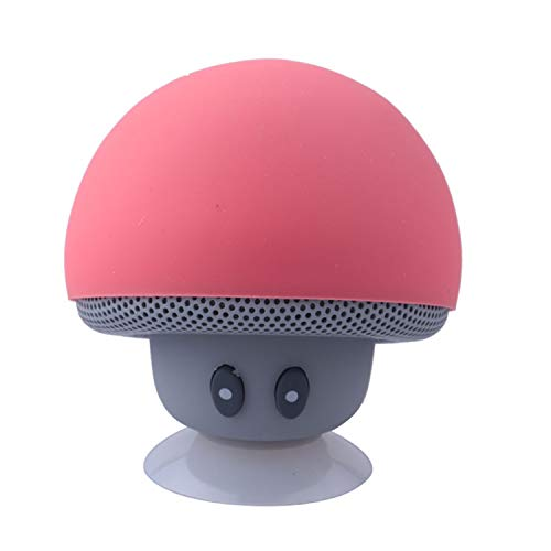 Portable Mini Mushroom Wireless Bluetooth Speaker Waterproof Shower Stereo Subwoofer Music Player for iPhone Xiaomi,red