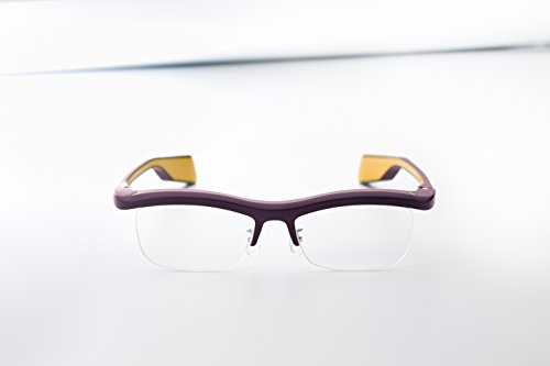 FUN'IKI Glasses (Brown/Yellow) by Namae-Megane Inc.