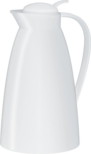 alfi Glass Vacuum Frosted Plastic Carafe, 1 L, White