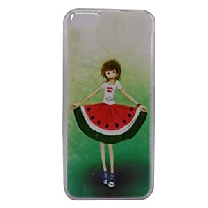 WQQ Beautiful Watermelon Girl Pattern PC Back Case for iPhone 5C