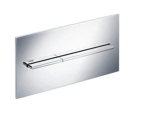 Viega 83541 Flush Plate Visign for More 104 Actuating Aluminum Matte Chrome