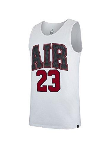 Da Uomo Nike Air Jordan 100 Bianco Tanktop 23 wqIfTrn7I