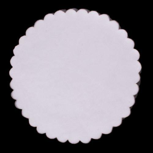 Sheer Organza Scalloped Edge 9 Circles 25 Pieces Party Favor Wraps (WHITE) by DPC (Circle Organza Wraps)
